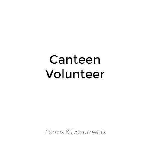 Canteen Volunteer