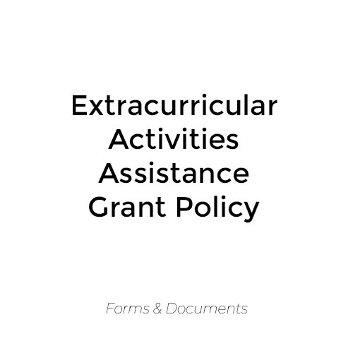 Extracurricular Activities Financial Assistance Grant Policy