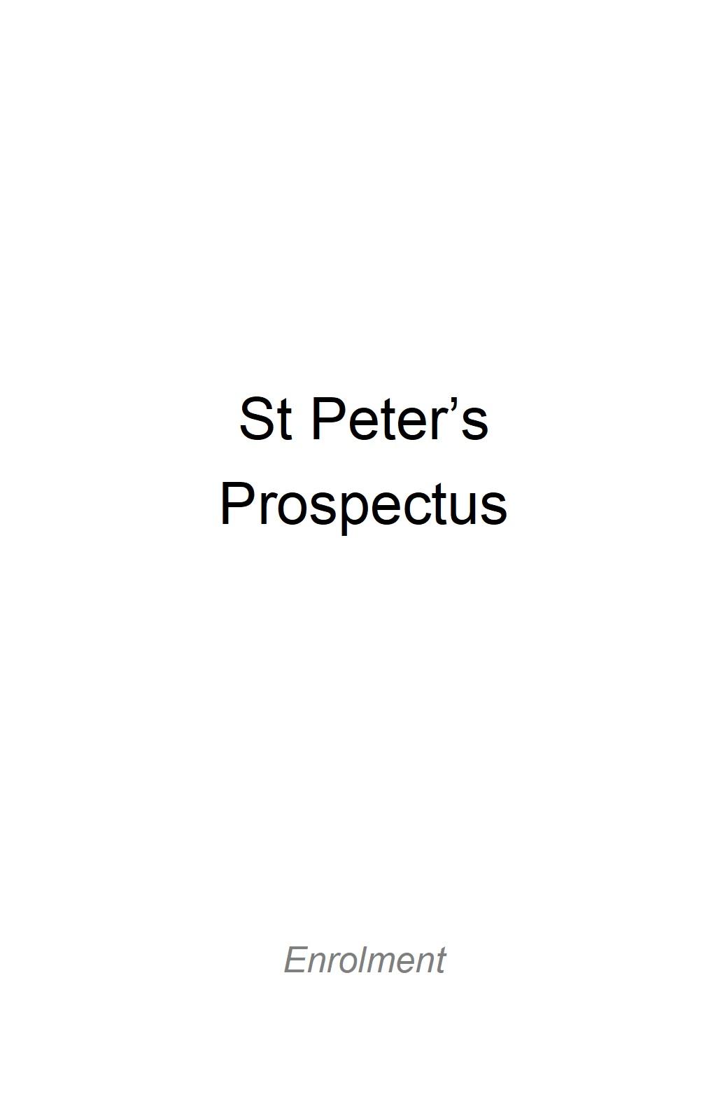 St Peter's Prospectus