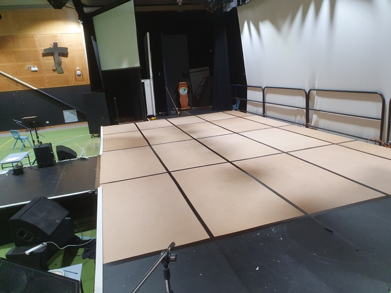 Entertainment Students Re-vamp Stage Flooring.
